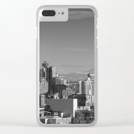 Seattle Winter White Clear iPhone Case
