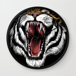 The Hungry Tiger - King of the Indian Jungle  Wall Clock