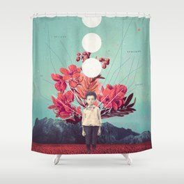 Standing at the Threshold of Time Shower Curtain
