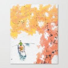Autumn Drifting Canvas Print