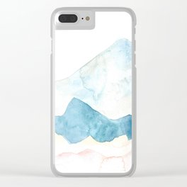 silver mountains Clear iPhone Case
