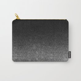Silver & Black Glitter Gradient Carry-All Pouch