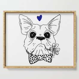 Dapper Frenchie Serving Tray