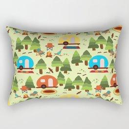 Caravan Campground Vacation Rectangular Pillow