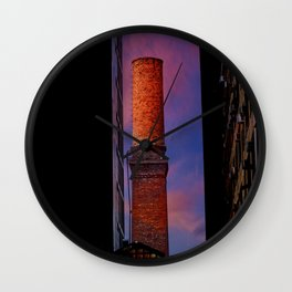 New York Sunset 10 Wall Clock