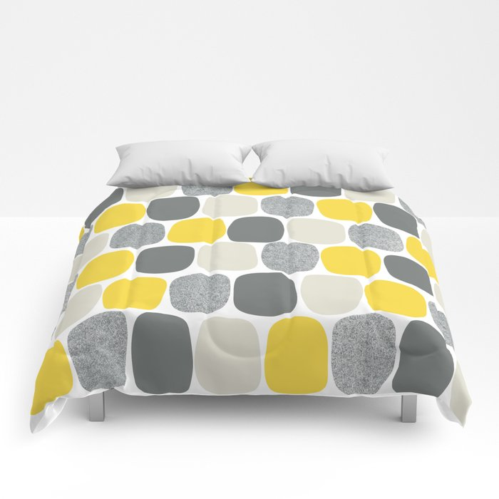 Wonky Ovals in Yellow Comforters