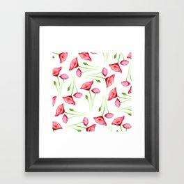 Poppy pattern Framed Art Print