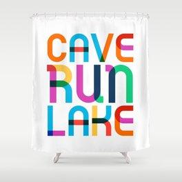 Cave Run Lake Color Pop Art Shower Curtain