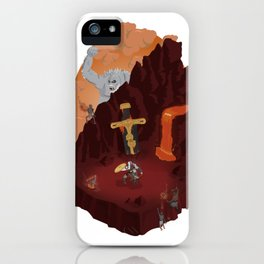 God of War (PS4) Isometric Poster iPhone Case