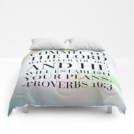 Proverbs 16:3 Bible Quote Comforters