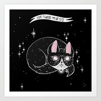 loll3 Art Prints featuring Home is where my Cat is by lOll3