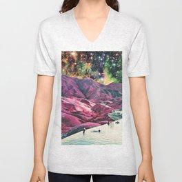 Purple Mountains Majesty Unisex V-Neck