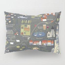 Hadlow, Kent Map Pillow Sham