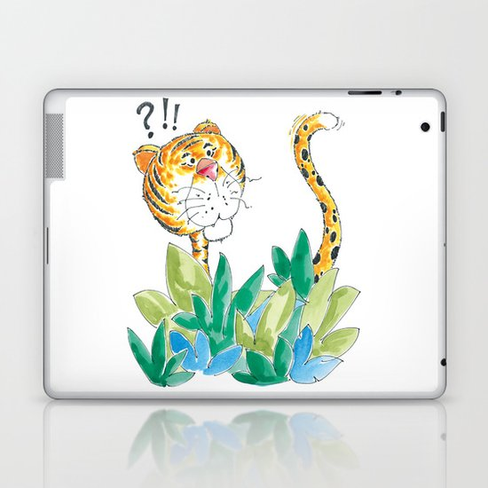 Spots, your tail is up! Laptop & iPad Skin