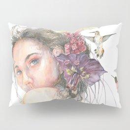 Woman Nymph Portrait with Hummingbird Pillow Sham