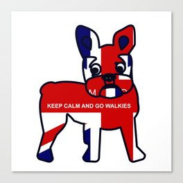 French Bulldog Keep Calm and Go Walkies Canvas Print