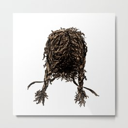 Messy dry curly hair 4 Metal Print