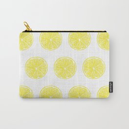 Lemon slices pattern design on white Carry-All Pouch
