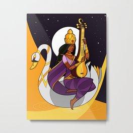 Saraswati - Goddess of Wisdom (alt) Metal Print