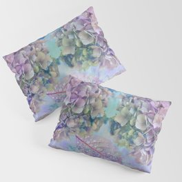 Watercolor hydrangeas and leaves Pillow Sham