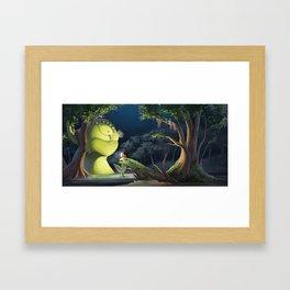 Lamplight Monster Framed Art Print
