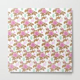 Floral Hamsa Metal Print