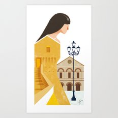 Illustre Conero - Sirolo Anchient Tower Art Print