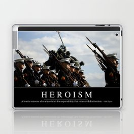 Heroism: Inspirational Quote and Motivational Poster Laptop & iPad Skin