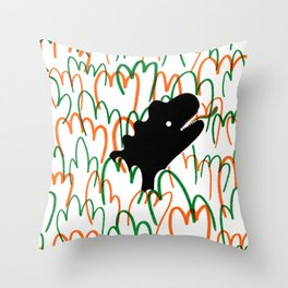 Jungle Dinosaur Throw Pillow