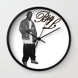 Big L //Black&White Wall Clock