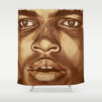 ali Shower Curtains featuring ALI by noblackcolor