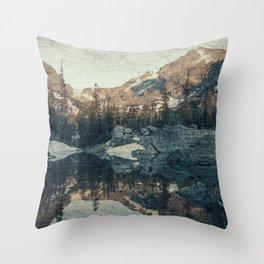 Lake Haiyaha Throw Pillow