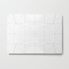 Geometric Symmetry Metal Print