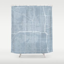 Lansing Map, USA - Slate Shower Curtain