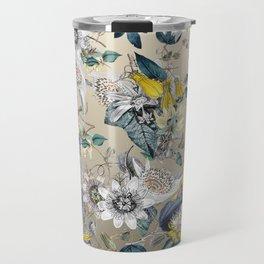 Exotic Fragrant Floral Garden in Gold Travel Mug