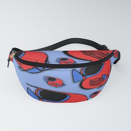 Red & Blue Sunfish Fanny Pack