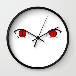 Demon Fox Eyes Wall Clock