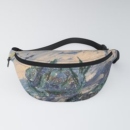 Blue flowers of the mist Fanny Pack