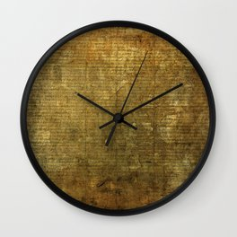 Declaration Of Indipendence Wall Clock