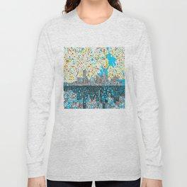 houston city skyline Long Sleeve T-shirt