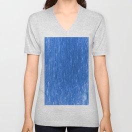 bright neon blue Unisex V-Neck