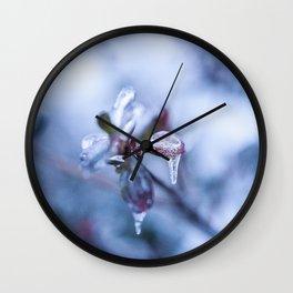 Winter's Kiss III Wall Clock