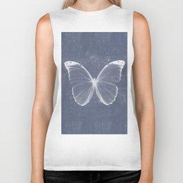 Butterfly in blue Biker Tank