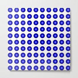 Bullseye -- Blue Metal Print