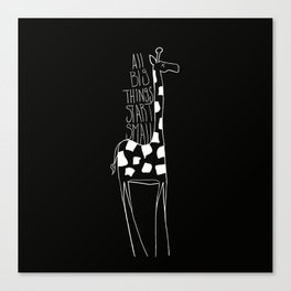 Inspirational giraffe Canvas Print