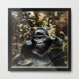 Primate Models: Outstanding Gorilla 02 Metal Print
