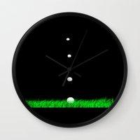 golf Wall Clocks featuring golf by Francesco Mestria