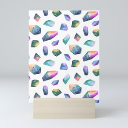 Geometric Crystals Amethyst Geode Rocks Mini Art Print
