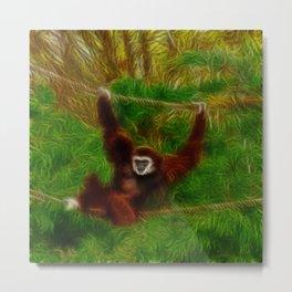 Gibbon in jungle Metal Print