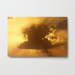 Golden Sunrise Clouds Metal Print